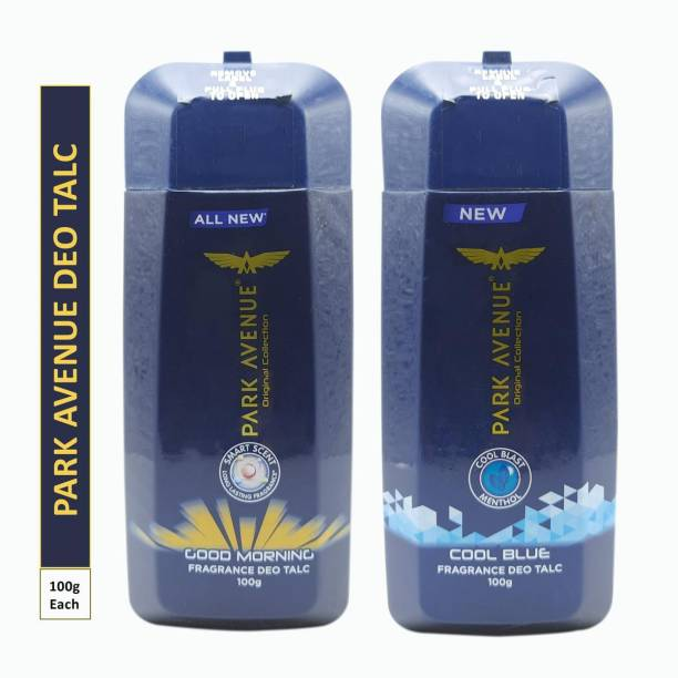 PARK AVENUE One COOL BLUE and One GOOD MORNING FRAGRANCE DEO TALC (Pack Of 2)
