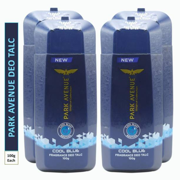 PARK AVENUE Four COOL BLUE FRAGRANCE DEO TALC (Pack Of 4)
