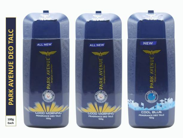 PARK AVENUE Two GOOD MORNING and One COOL BLUE FRAGRANCE DEO TALC (Pack Of 3)