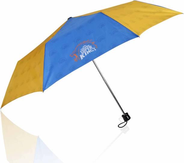 EUME Official CSK 3 Fold Hand Open Small Umbrella