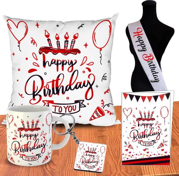 OddClick Mug, Cushion, Greeting Card, Keychain, Showpiece Gift Set