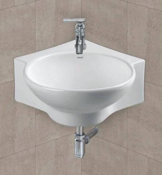 "SENISTO Size 16 "" 17 "" 5 "" INCHES Corner basin / wall hung / wall mountes basin / counter top basin / ceramic wash basin Corner Basin"
