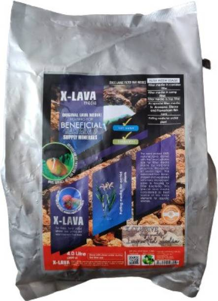 AQUATIC REMEDIES X-LAVA media ORIGINAL LAVA MEDIA! HOUSING FOR BENEFICIAL BACTERIA & SUPPLY MINERALS (FREE LARGE FILTER BAG INSIDE) Aquarium Filter Cartridge
