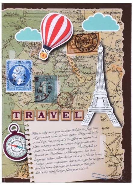doodle Travelogue Paper Based Softbound Planner 240 Pages Planner , Inside Book Size : 7 X 5 inches Regular Diary Ruled 240 Pages