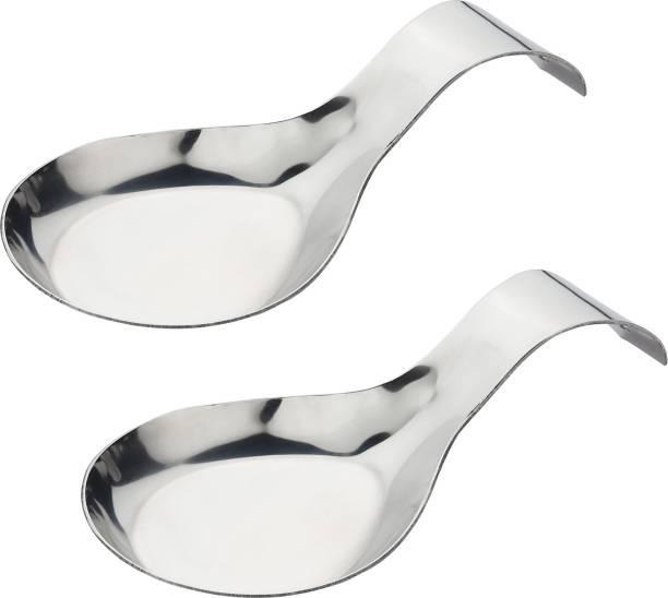 Goods&Fleet Spoon Rest-Medium Stainless Steel Table Spoon (Pack of 2) Stainless Steel Table Spoon Set