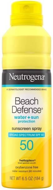NEUTROGENA Beach Defense Sunscreen Spray SPF 50 Water-Resistant Sunscreen Body Spray - SPF 50 PA+
