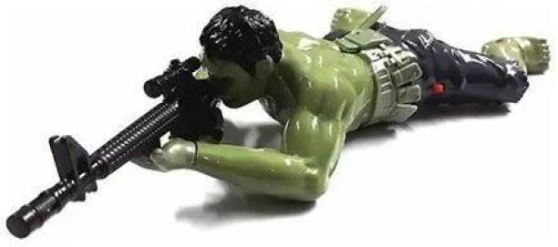 wafadar Action Toy, Crawls With Gun And Lightening Sound, For Kids Ages 3 And Up