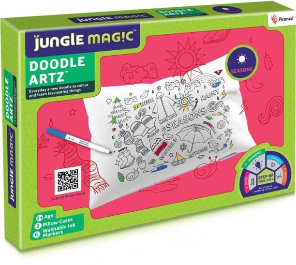 Jungle Magic Doodle Artz Seasons, White