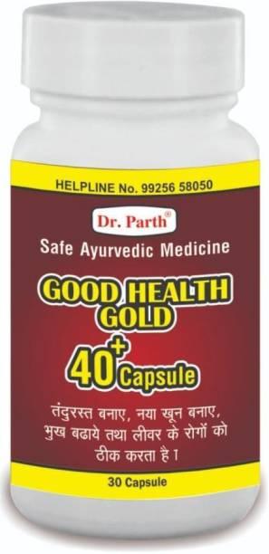 dr. parth biotech Good Health Gold 40 + Capsule Safe Ayurvedic Medicine