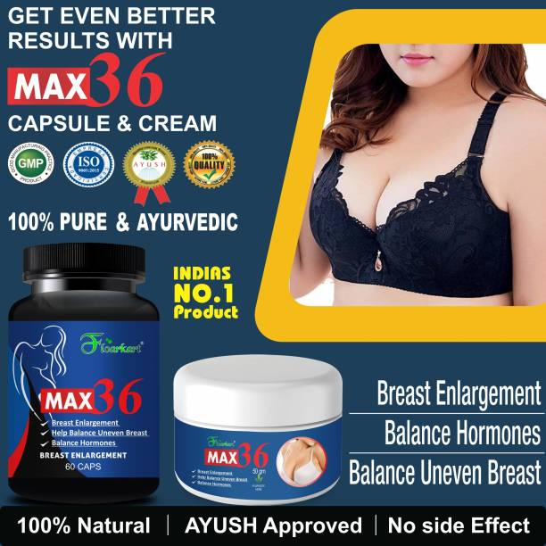 Floarkart Max 36 Ayurveda Capsules & Cream For Helps To Prevent Breast Size