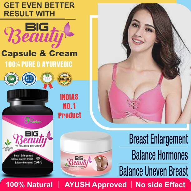 Floarkart Big Beauty Ayurveda Capsules & Cream For Helps To Sagging Your Breast