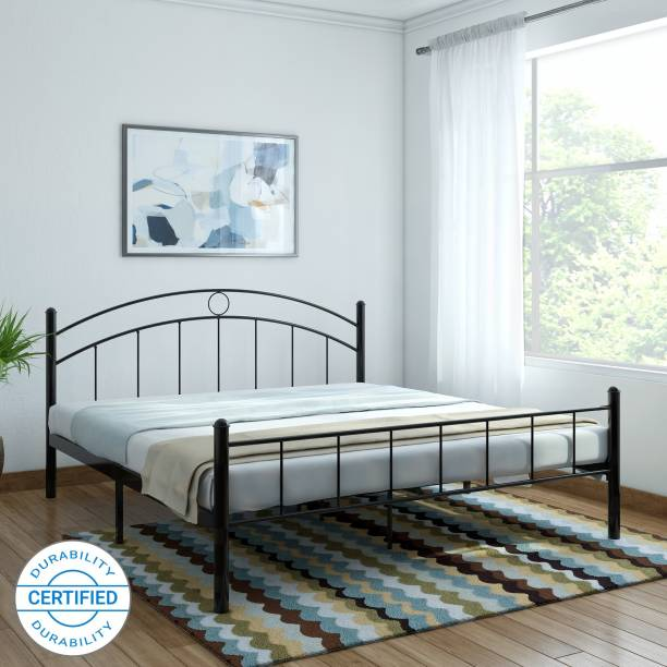 FurnitureKraft Nancy Metal King Bed