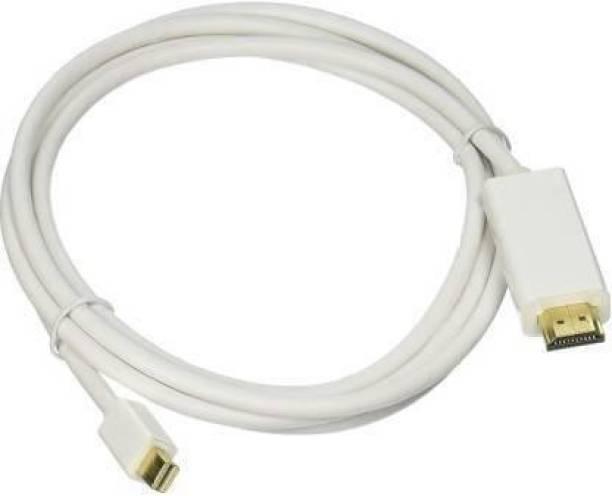 Q3tec Mini Display port To HDMI Cable, Mini DP To HDMI Cable 4K 3 m HDMI Cable