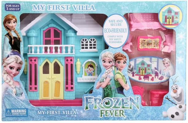 MON N MOL TOY fashion frozen complete doll house play set with miniature princess figurine