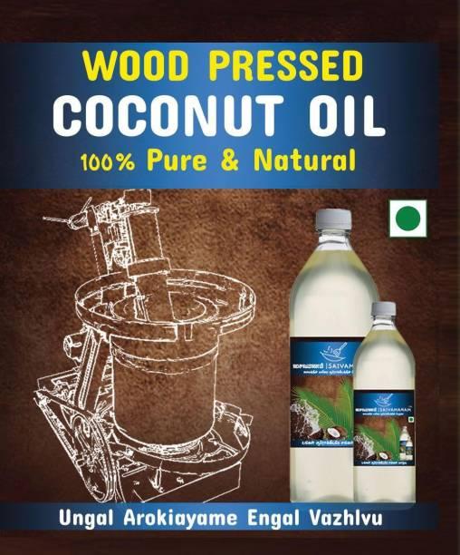 SAIVAMANAM Cold press 100% Pure & Natural Vagai mara chekku Coconut Oil PET Bottle