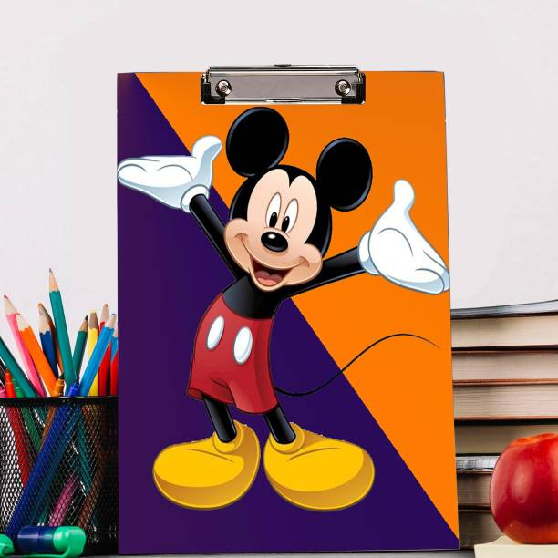 BP DESIGN SOLUTION Laughing Mickey Mouse Design Digital Reprint Clip Board Exam Pad (14x9.5 Inches) Premium Quality