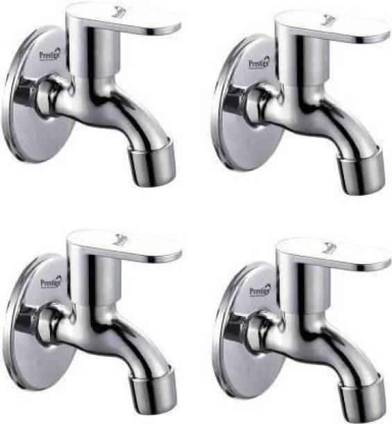 Prestige SS Opal Bib Cock With Wall Flange-Pack Of 4 Faucets Bib Tap Faucet