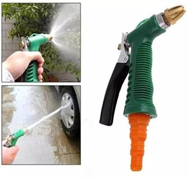 SarjuZone Plastic Trigger and Brass Nozzle High Pressure Water Spray Gun Water Spray Gun for Car/Bike/Plants - Gardening Washing Gun Hose Pipe
