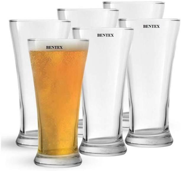Bentex (Pack of 6) Beer Glass, Pilsner Glass, Mocktail Glass Glass Set