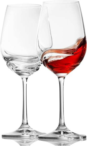 Vivesha (Pack of 2) Crystal Clear Wine Glass