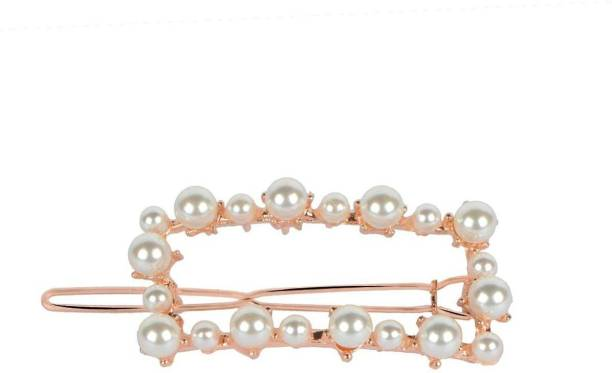 NANDANA COLLECTIONS Pearl and stones studded Party wear premium quality Hair clip minimalist Hair Pin