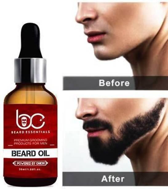 BEARD ESSENTIALS Premium Beard Growth Oil - Enriched with Rose & Sandalwood oil For Fast Beard Growth - 30ml Hair Oil