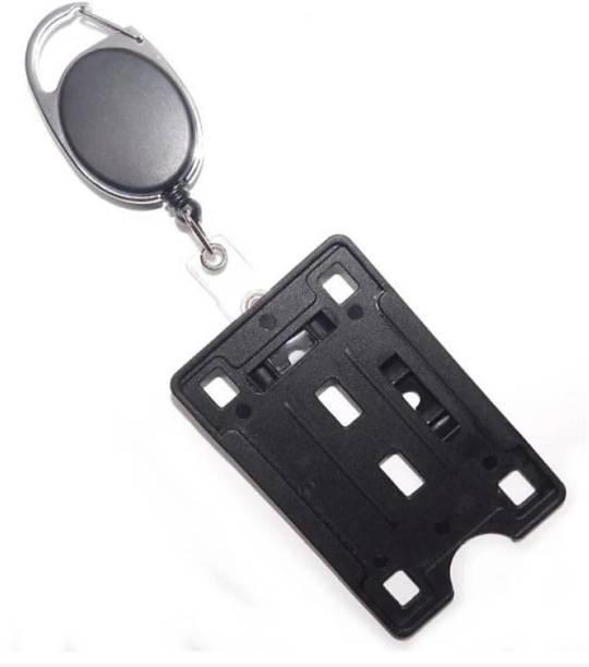 Kidultz Plastic ID Badge Holder, ID Badge Reel
