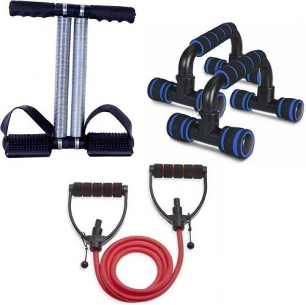 VATSMART Fitness Kit Push up Bar With Toning Tube and Tummy Trimmer Home Gym Kit