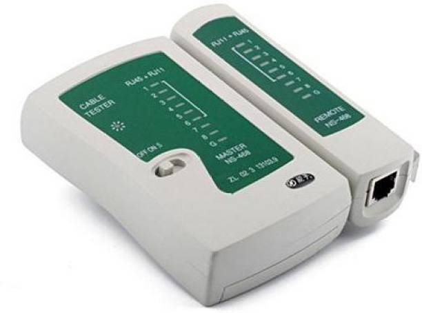 JAMUS High Quality RJ45 RJ11 RJ12 CAT5 CAT6 Network LAN Tester Network Interface Card (White) Network Interface Card