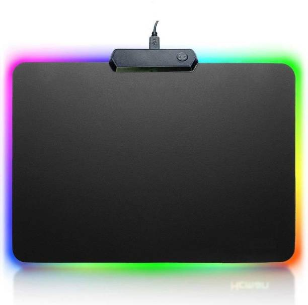 coolcold RGB Gaming Mouse pad   Modes Pads for Laptop with 14 LED Modes Mousepad   Anti-Skid, Anti-Slip Rubber Base Best for Wireless Mouse/PC/Desktop/Home/Office/Gaming (Small LED 30x25 cm) Mousepad
