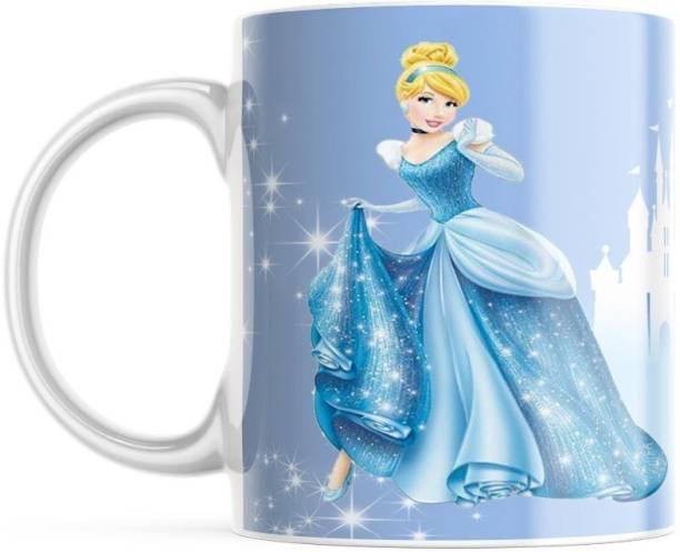 GSLS Beautiful Coffee For Office with Dancing Cinderella Ceramic Coffee Mug