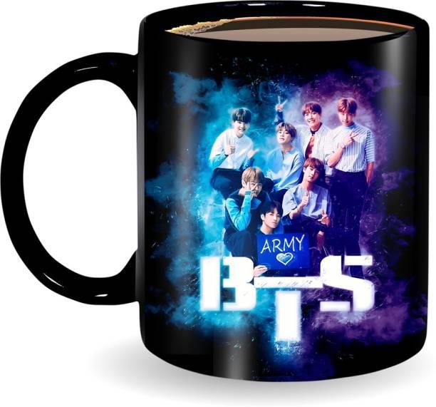 Ridhi Sidhi Design BTS ARMY Printed Coffee/Tea Ideal for Everyone, Best Friend, Girlfriend, Co-Worker, Bts Army 330 ml (RSD00255) Ceramic Coffee Mug