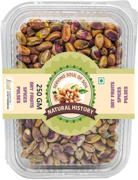 natural history Brand - Pista Plain 250 Gm (Pack Of 1 ) Pistachios