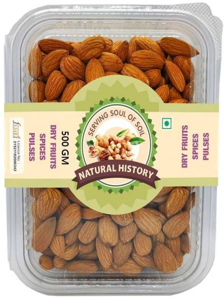 natural history Brand - Almond 500 Gm (Pack Of 1 ) Almonds