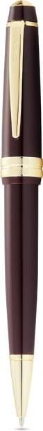 Cross Bailey Light Burgundy (Red) Resin Ballpoint Pen with gold plate appts Ball Pen