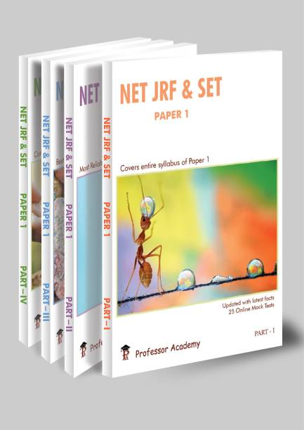 NET JRF & SET Paper 1| Set Of 4 Books | Second Edition | 2021 | By Professor Academy