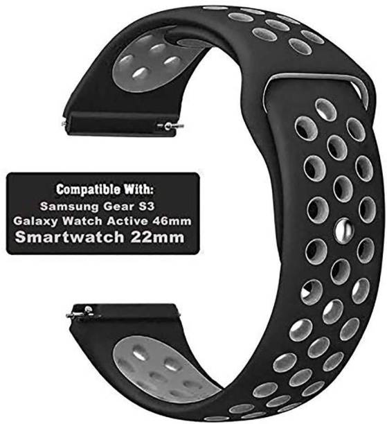 Big Wings Soft Silicone 20mm Strap Band with Metal Buckle Compatible with Samsung Galaxy Watch 3 41mm, Galaxy 42mm, Galaxy Active 40mm, Active 2 (40-44mm) / AmazeFit BIP/BIP Lite/AmazeFit GTS, Amazefit GTR (42mm) / VivoActive 3 / RealMe Classic, Fashion & Smartwatches with 20mm Lugs Smart Watch Strap