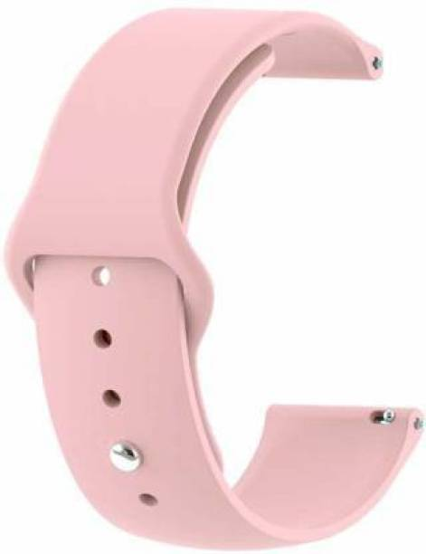 Big Wings Soft Silicone 20mm Strap Band Compatible with Samsung Galaxy Watch 3 41mm, Galaxy 42mm, Galaxy Active 40mm, Active 2 (40-44mm) / AmazeFit BIP/BIP Lite/AmazeFit GTS, Amazefit GTR (42mm) / VivoActive 3 / RealMe Classic, Fashion & Smartwatches with 20mm Lugs Smart Watch Strap