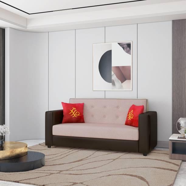 House of Pataudi Leatherette 3 Seater  Sofa