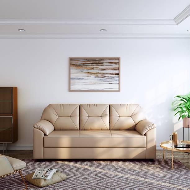 Flipkart Perfect Homes Maria Leatherette 3 Seater  Sofa