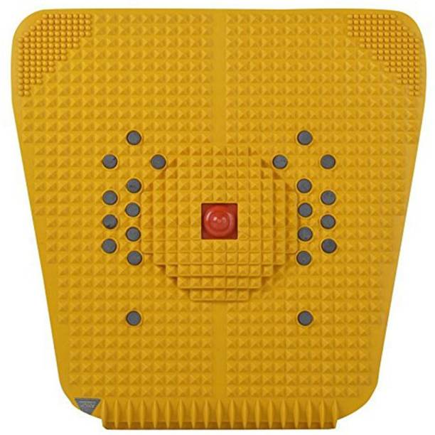 VIVAAN combo Acupressure Mat Relieve Stress Pain Acupuncture Massager (Yellow) Yellow 6 mm Accupressure Mat