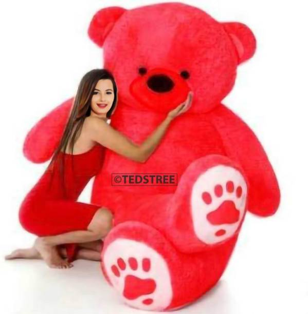 Tedstree 3 feet red teddy bear / Big very soft and sweet / anniversary for pleasant Gift  - 90.13 cm