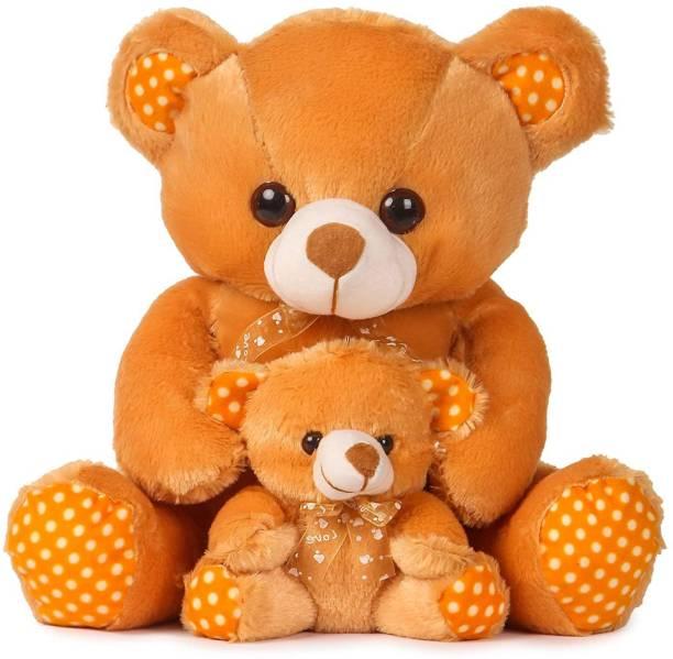 maaya Brown Mother with Baby Teddy Bear  - 45 mm