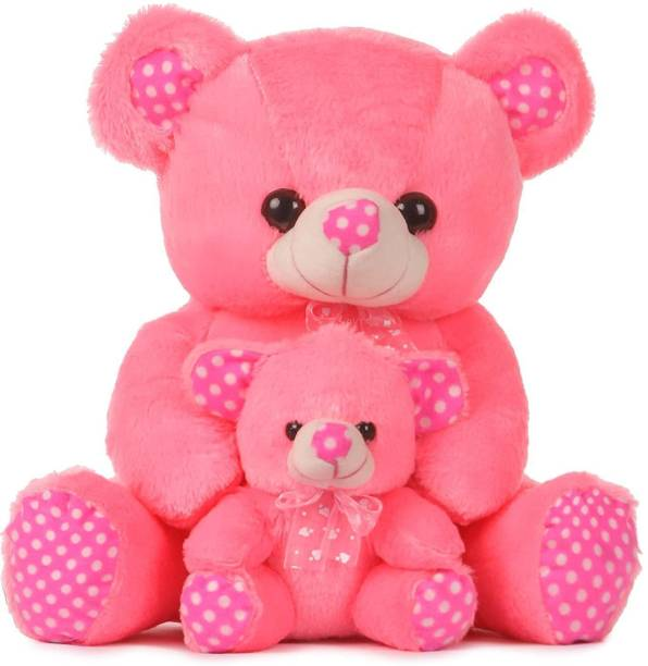 maaya Pink Mother with Baby Teddy Bear  - 45 mm