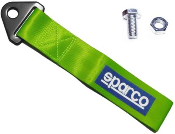 Selifaur Sparco Imported High Strength Universal Front & Rear Nylon Racing Car Tow Strap Tow Rope Green 0.2 m Towing Cable