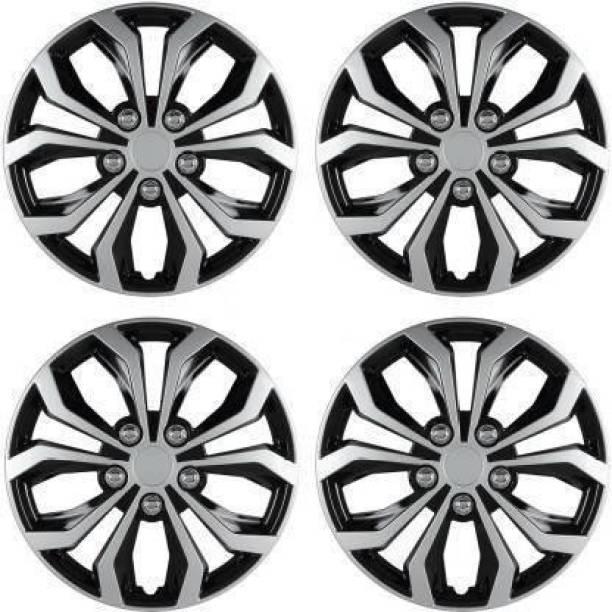 foxride Dual Color Silver Black 14-inch Tyre Sport Rim cover, Wheel Cover Wheel Cover For Maruti Swift