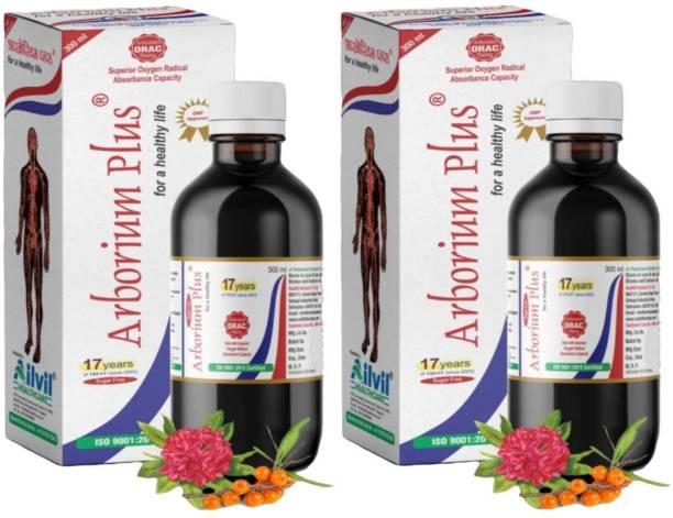 REDHILLS Arborium Plus - 300 ml (Pack of 2)| For Healthy Life