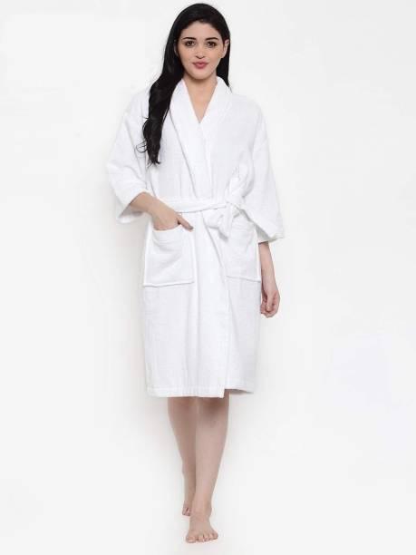 Flipkart SmartBuy White Free Size Bath Robe