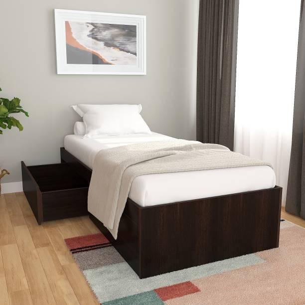 Studio Kook Tribe Engineered Wood Single Drawer Bed