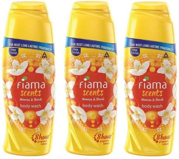 FIAMA Scents Mimosa & Neroli Body Wash 100ML With Loofah 3Pcs